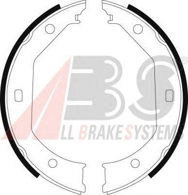 Комлект тормозных накладок A.B.S. 8973