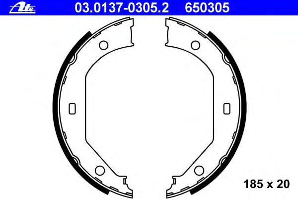 Комлект тормозных накладок ATE 03.0137-0305.2