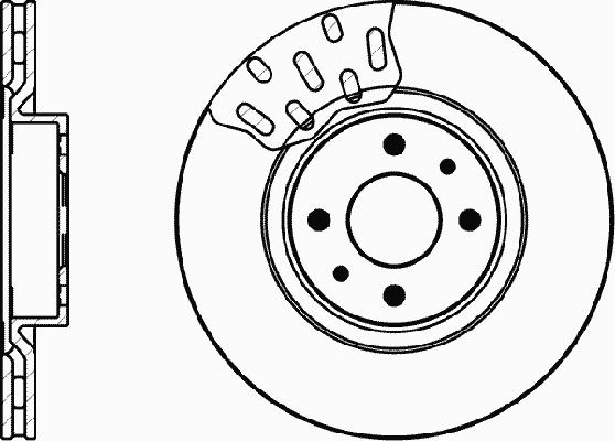 Тормозной диск MINTEX MDC616