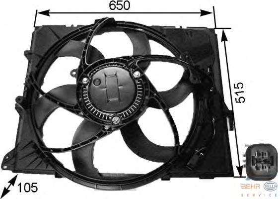 Вентилятор HELLA 8EW 351 043-251