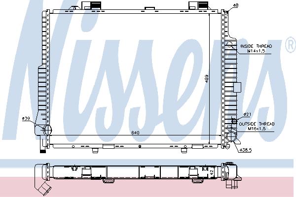 Теплообменник NISSENS 62615