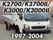 K2500 / K2700 / K2700II / K3000 / K3000II
