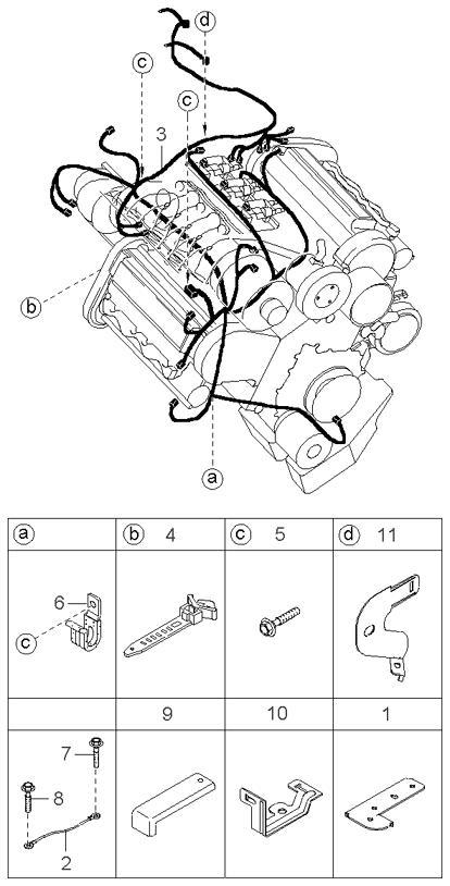Схема двигателя киа карнивал 2.9