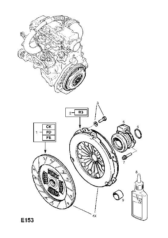 сцепления Opel Vectra-B