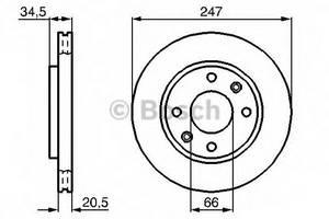 фото: [0986478370] Bosch Диск тормозной , комплект из 2-х шт.