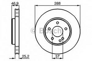 фото: [0986478624] Bosch Диск тормозной передний , комплект из 2-х шт.
