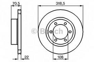 фото: [0986478698] Bosch Диск тормозной , комплект из 2-х шт.