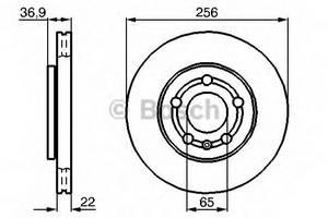 фото: [0986478853] Bosch Диск тормозной передний, комплект из 2-х шт.
