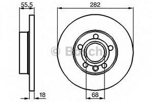 фото: [0986478870] Bosch Диск тормозной , комплект из 2-х шт.