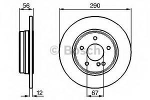 фото: [0986478899] Bosch Диск тормозной , комплект из 2-х шт.