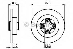 фото: [0986479196] Bosch Диск тормозной, комплект из 2-х шт.