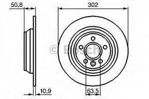 фото: [0986479254] Bosch Диск тормозной задний , комплект из 2-х шт.