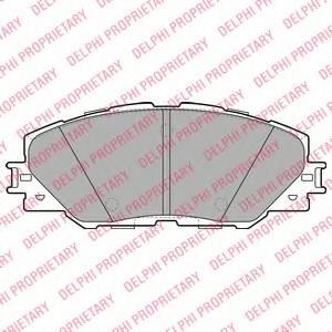 фото: [LP2003] Delphi К-т колодок тормозных Fr  TO RAV 4 III  06-
