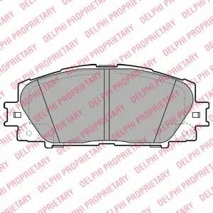 фото: [LP2006] DELPHI Колодки тормозные дисковые передние комплект на ось