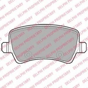 фото: [LP2008] Delphi Колодки тормозные задние комплект на ось
