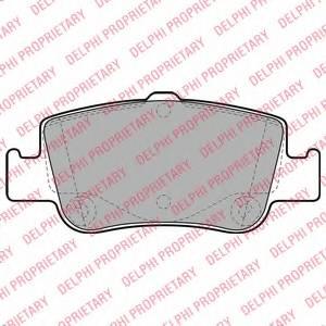 фото: [LP2103] Delphi Колодки тормозные задние комплект на ось