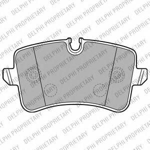 фото: [LP2226] DELPHI Колодки тормозные задние комплект на ось