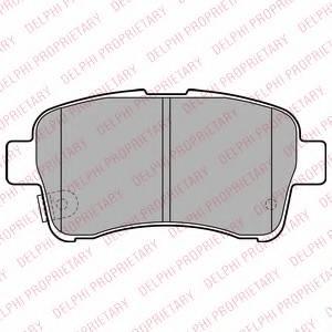 фото: [LP2205] DELPHI Колодки тормозные дисковые передние комплект на ось