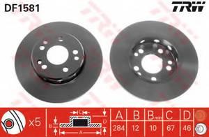 фото: [DF1581] TRW Диск тормозной передний комплект 2 шт.