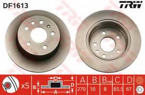 фото: [DF1613] TRW Диск тормозной задний, комплект 2 шт.