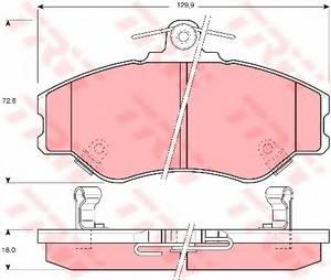 фото: [GDB3089] TRW Колодки тормозные передние комплект на ось