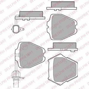 фото: [LP1903] DELPHI Колодки тормозные дисковые передние комплект на ось