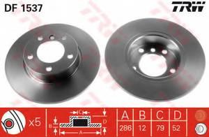 фото: [DF1537] TRW Диск тормозной комплект 2шт. передн
