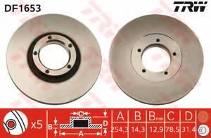 фото: [DF1653] TRW Диск тормозной передний, в комплекте из 2-х шт.