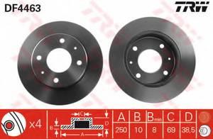 фото: [DF4463] TRW Диск тормозной задний, в комплекте 2-х шт.