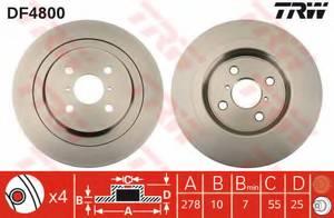 фото: [DF4800] TRW Диск тормозной задний комплект 2 шт.