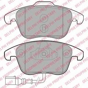 фото: [LP2110] DELPHI Колодки тормозные передние комплект на ось