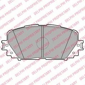 фото: [LP2123] DELPHI Колодки тормозные передние комплект на ось