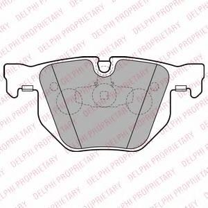 фото: [LP2256] DELPHI Колодки тормозные дисковые задние комплект на ось