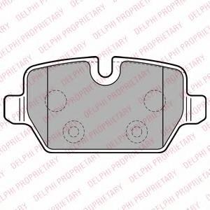 фото: [LP2247] DELPHI Колодки тормозные дисковые задние комплект на ось