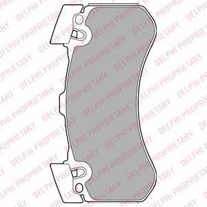 фото: [LP2283] DELPHI Колодки тормозные передние комплект на ось