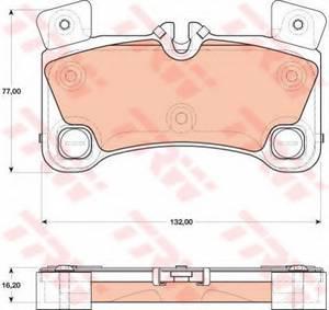 фото: [GDB1775] TRW Колодки тормозные задние комплект на ось
