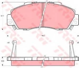 фото: [GDB995] TRW Колодки тормозные передние комплект на ось