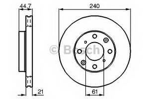 фото: [0986478115] Bosch Диск тормозной , комплект из 2-х шт.