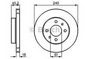 фото: [0986478533] Bosch Диск тормозной, комплект из 2-х шт.