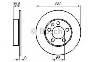 фото: [0986478868] Bosch Диск тормозной задний , комплект из 2-х шт.
