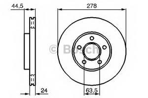 фото: [0986479069] Bosch Диск тормозной , комплект из 2-х шт.