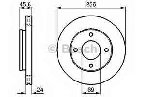 фото: [0986479187] Bosch Диск тормозной, комплект из 2-х шт.