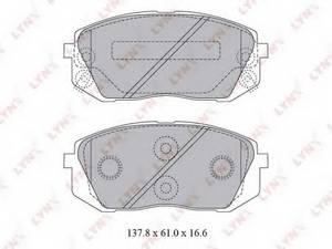 фото: [BD3621] LYNXauto Колодки тормозные передние комплект на ось