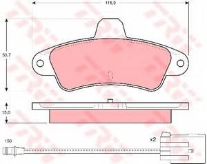 фото: [GDB1112] TRW Тормозные колодки задние дисковые с датчиком комплект на ось