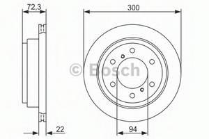 фото: [0986479373] Bosch Диск тормозной , комплект из 2-х шт.