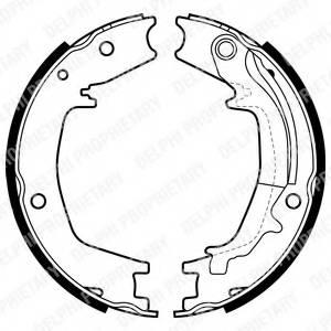 фото: [LS1985] Delphi К-т торм. колодок