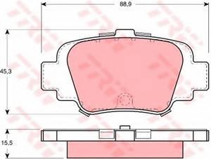 фото: [GDB1060] TRW Колодки тормозные задние комплект на ось
