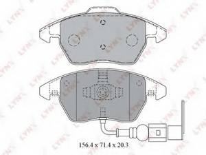 фото: [BD1203] LYNXauto Колодки тормозные передние комплект на ось