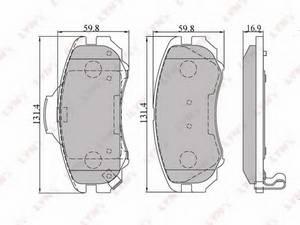 фото: [BD3602] LYNXauto Колодки тормозные передние комплект на ось