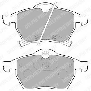 фото: [LP1731] DELPHI Колодки тормозные передние комплект на ось